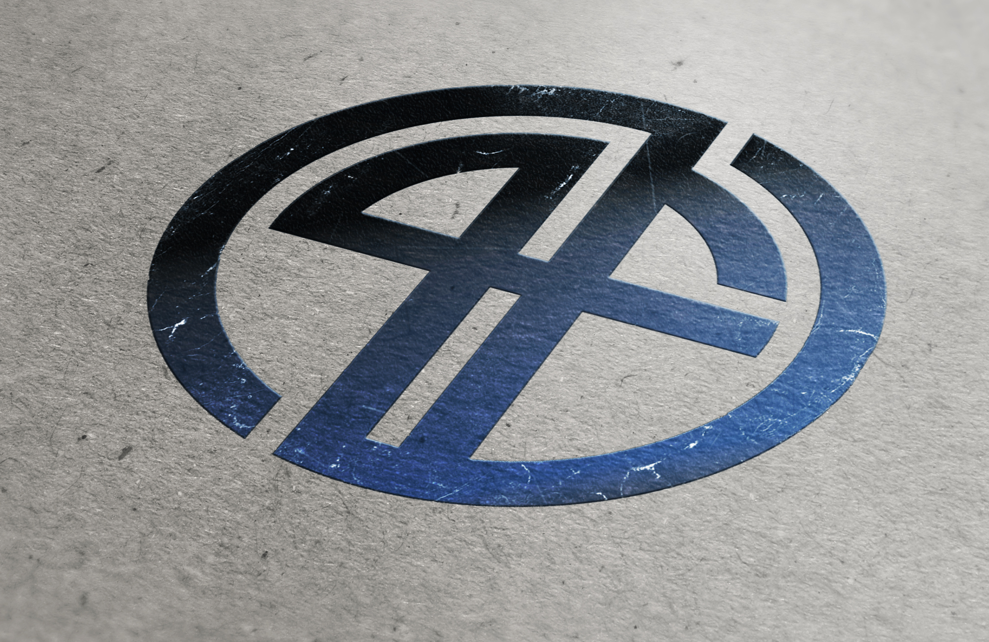 PF cardboard logo